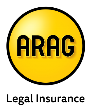 Arag legal logo in white