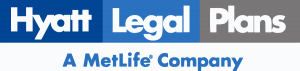 Hyatt legal plan by Metlaw logo in white